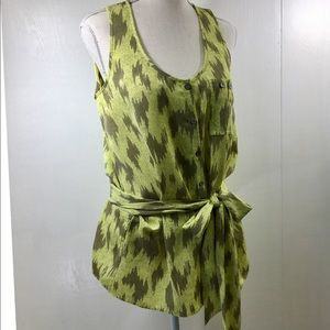 Rachel Rachel Roy Sleeveless Yellow Blouse. M